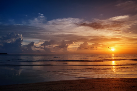 Picturesque sunset over the ocean. Thailand, Phuket