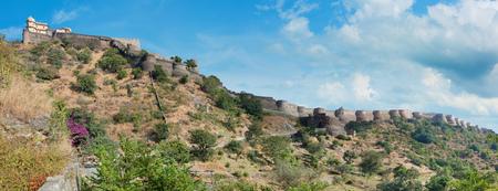 Kumbhalgarh fort panoramic photo. Rajasthan, India