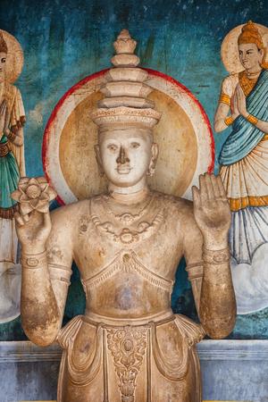 Sri Lanka, Anuradhapura. Old statue in the temple