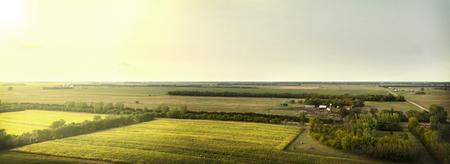 midwest: Brightly lit farmland in South Dakota, Midwest.