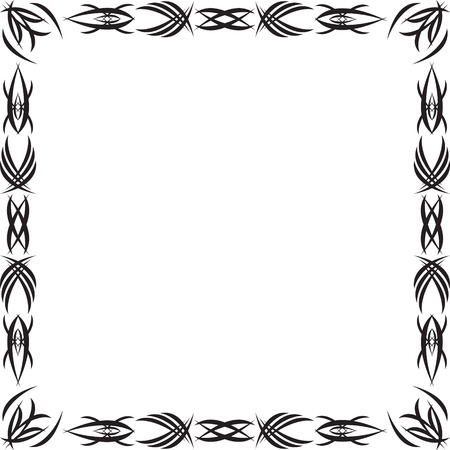 Framework drawn by a Gothic black pattern Stock Vector - 5234325