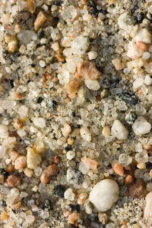 Sandy soil: Foto cerca de la tierra arenosa con piedras