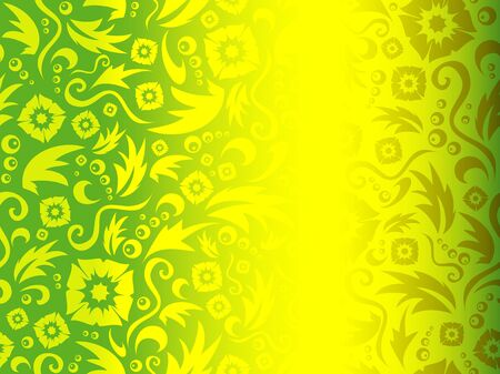 imposing: The drawn flower pattern with gradient imposing Stock Photo