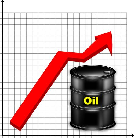 The image of the schedule of a rise in prices for oil Stock Photo - 5711209