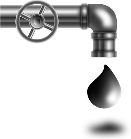sheik: The graphic representation of a pipe from which drips oil