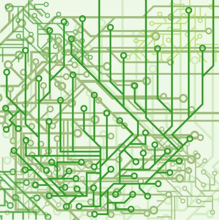 緑のトーンで電子方式から背景