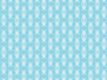 The white refined pattern on a blue background photo