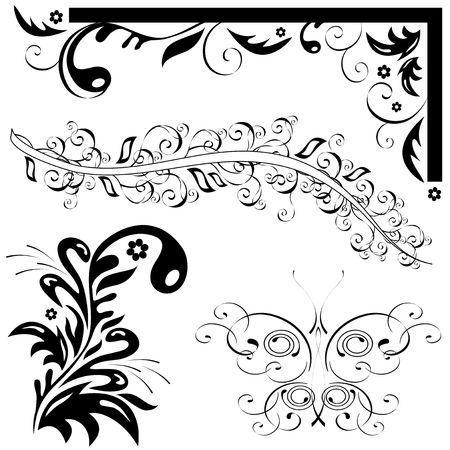 feelers: conjunto de patrones naturales. Mariposa, hoja