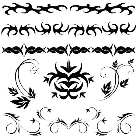 different set of Gothic patterns and ornaments Stock Vector - 7021301
