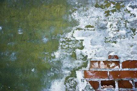 antiguas murallas de peeling con yeso y ladrillo  Foto de archivo - 7202283