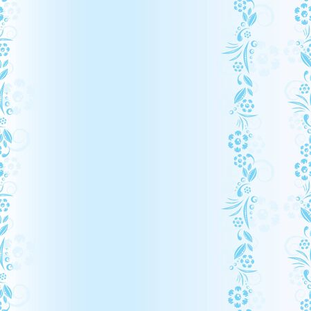 seamless blue floral pattern. space frame photo