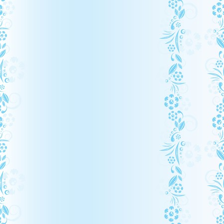 seamless blue floral pattern. space frame Vector