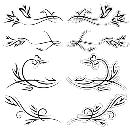 set of patterns for design on a white background Stock Vector - 8032129
