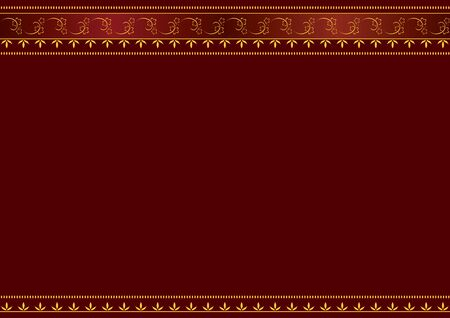 frame for text. Red and gold.  Vector