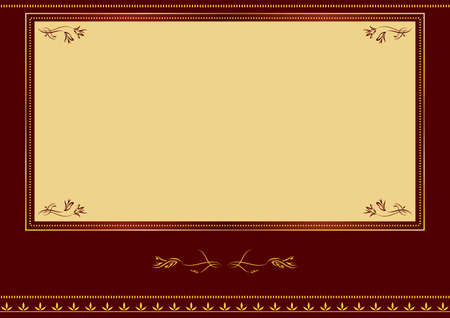 Label. Red and gold design Stock Vector - 8158169