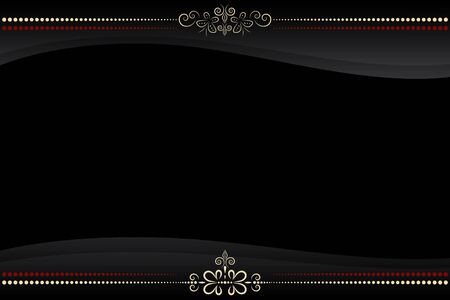 vector black frame with golden floral pattern ornate