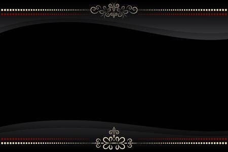 vector black frame with golden floral pattern ornate