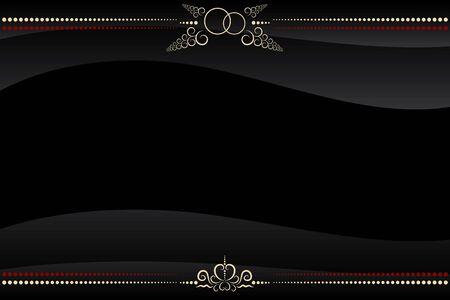 elegância: vector black frame with golden floral pattern ornate