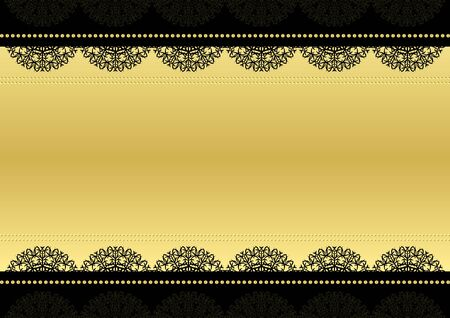 frame for text. Black and gold. Vector background