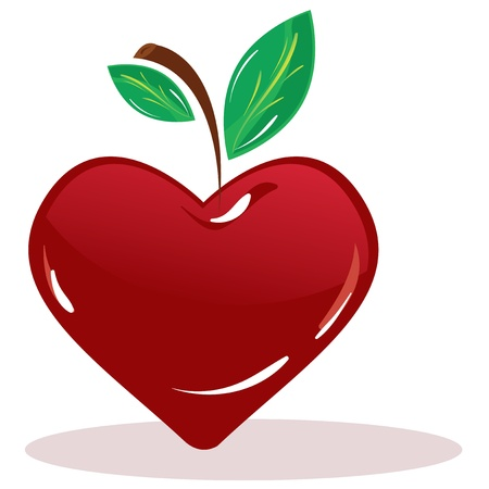 cherry in the form of the heart Vector