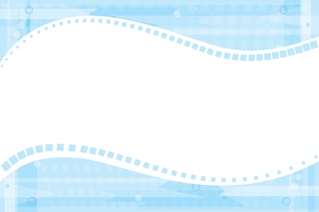 abstract blue background. Illustration. Horizontal frame.  Vector
