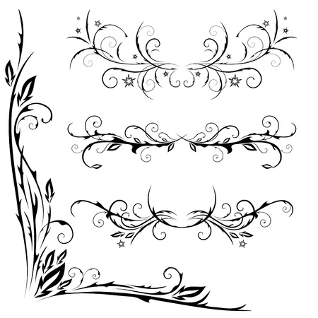 set of patterns for design on a white background Illustration
