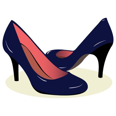 haut talon: talons Blue shoes