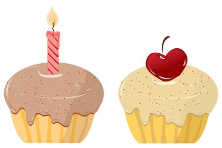 two cakes Vector