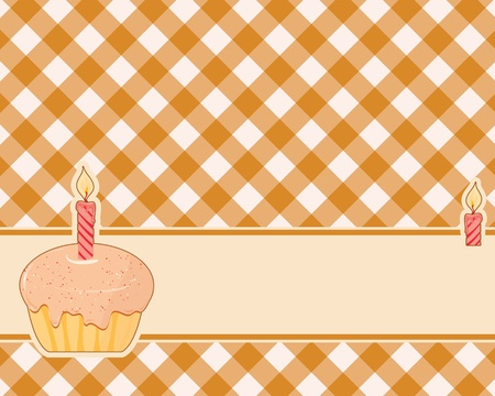 abstract brown-yellow checkered background decorated cake Vector