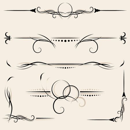 design elements and page decoration Stock Vector - 9934261
