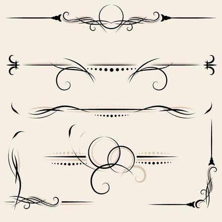 page decoration: ontwerpelementen en pagina decoratie Stock Illustratie