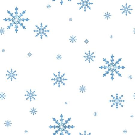 雪片のシームレスなパターン。お祝い背景  イラスト・ベクター素材