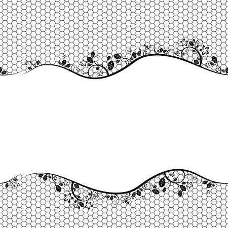 black lace on white background. Vector seamless background Stock Vector - 10867162