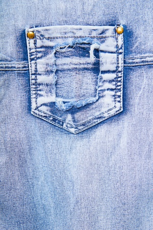 denim with a pocket. Background for design photo