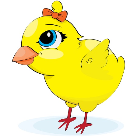 Cartoon chicken. illustration on a white background Illustration