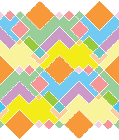 mondrian: seamless pattern of bright rectangles of different colors Illustration