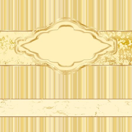 vintage gold label. Vector background of an old-fashioned Vector