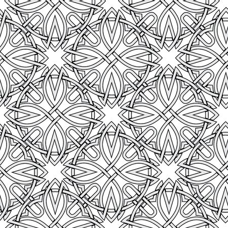 seamless background from Celtic ornaments. monochrome illustration Stock Illustration - 13995042