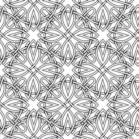 seamless background from Celtic ornaments. monochrome illustration Stock Illustration - 13995042