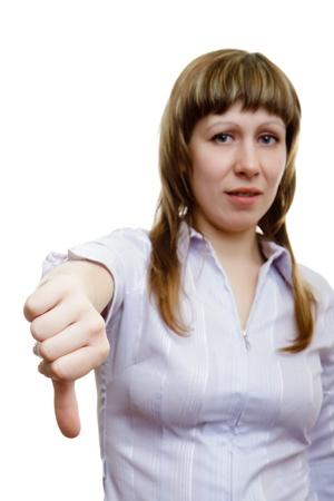 desprecio: el pulgar hacia abajo!