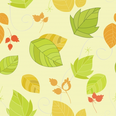 seamless background with a repeating floral elements Vector