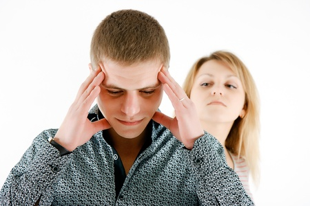accusations: A family quarrel. A man tired of his wifes accusations