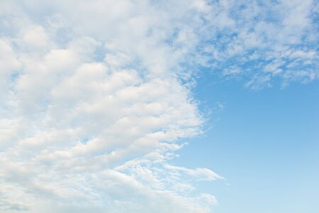 summer blue sky with many white clouds  Stock Photo - 15398625