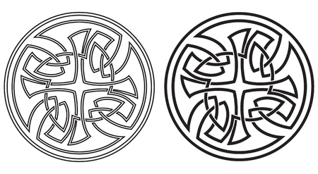 Celtic vector round ornament  Set of two variants Vector