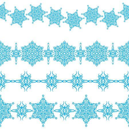 set of seamless Christmas ornaments borders Stock Vector - 16689538