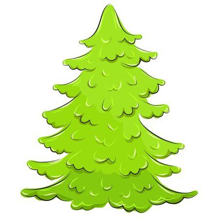 Vector illustration  lush Christmas fir-tree Stock Vector - 17018208