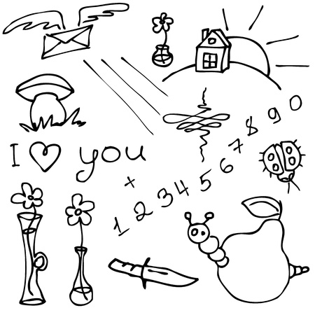 Vector set of hand drawn different doodles Stock Vector - 17428706