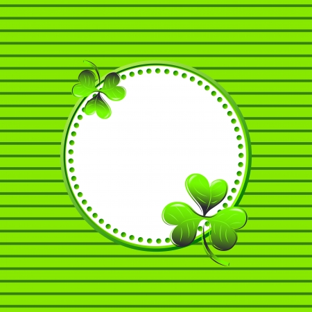 Vector green frame for St. Patrick's Day Stock Vector - 18148804