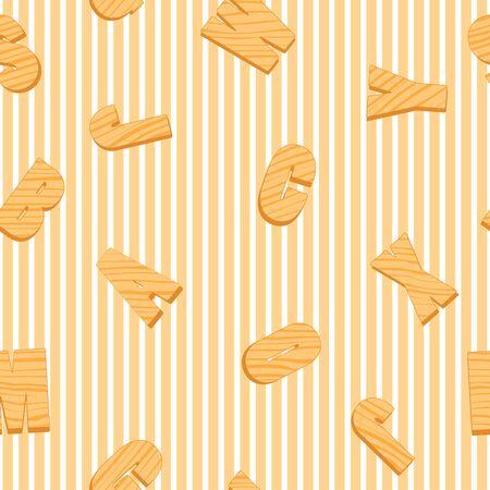 r�p�titif: Seamless ray� avec r�p�titives lettres en bois Illustration