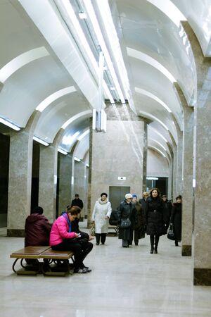 nizhny novgorod: subway station Gorkovskaya in Nizhny Novgorod  Russia Editorial
